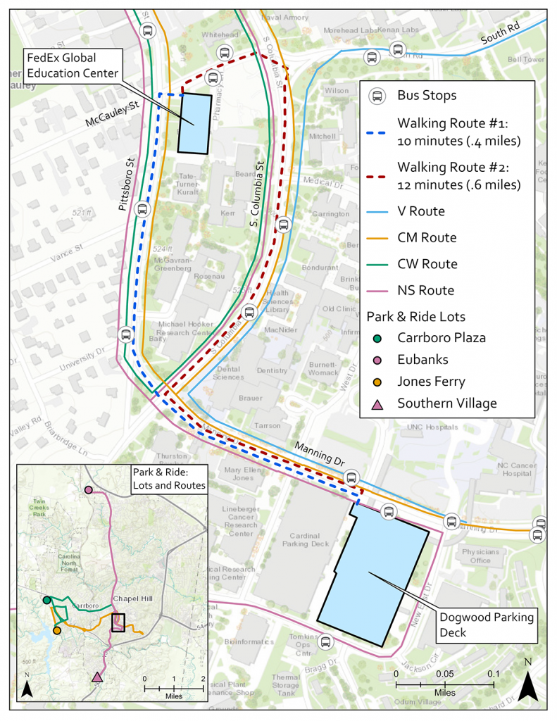 map of the conference location and bus routes. See this page's description and printable map.